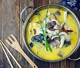 菌菇鱼头汤的做法