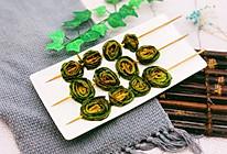 烤韭菜卷的做法