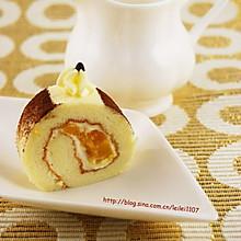 奶油芒果戚风蛋糕卷