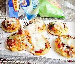 迷你披萨#百吉福马苏里拉奶酪#的做法