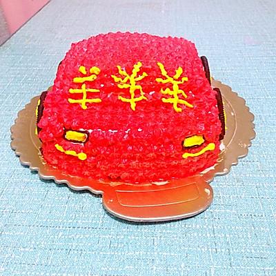 汽车蛋糕的做法 步骤9
