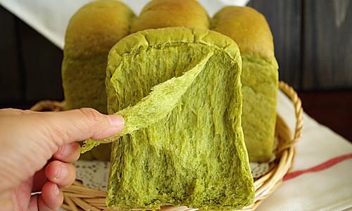 抹茶淡奶油吐司 中种法的做法