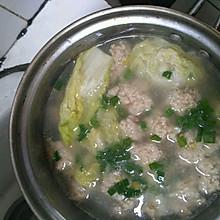 青菜肉丸汤