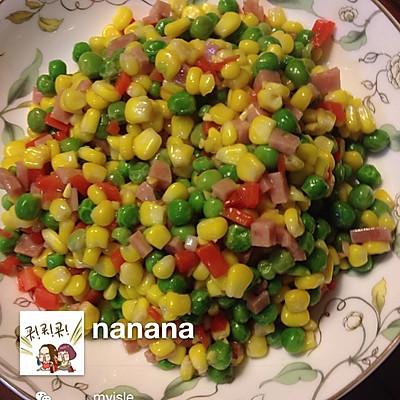 美味玉米炒豌豆的做法 步骤2