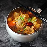 入秋一碗养生汤【虫草花猪骨汤】#晒出你的团圆大餐#的做法图解6