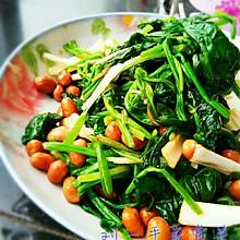 养生菜——陈醋菠菜花生米