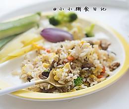 12个月以上辅食 牛肉香菇蛋炒饭的做法