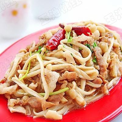 金针菇炒羊肉卷