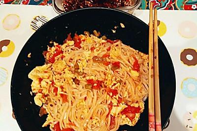番茄西红柿鸡蛋打卤面臊子面