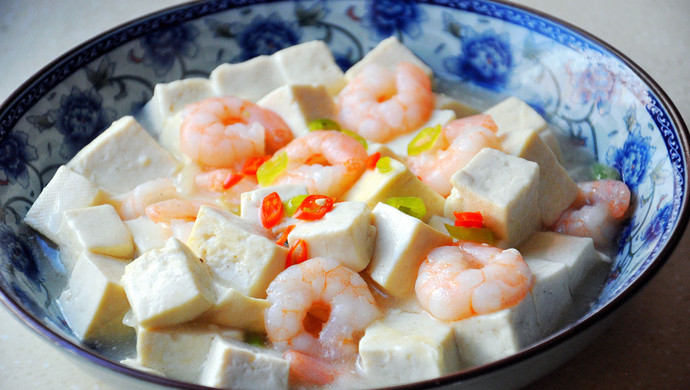 白玉虾仁豆腐