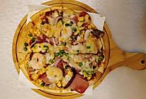 鲜虾培根披萨(烤箱版)的做法