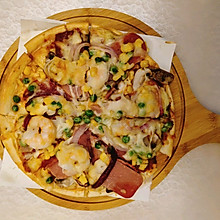 鲜虾培根披萨(烤箱版)