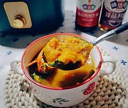 螃蟹南瓜汤(有/无油双版本)的做法