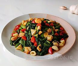 虾仁油蒜小白菜的做法