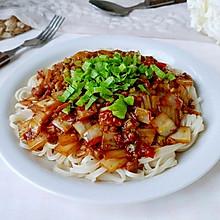芹辣肉粒方白菜