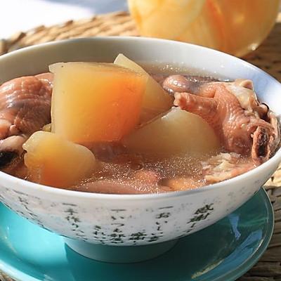 木瓜猪皮鸡爪汤