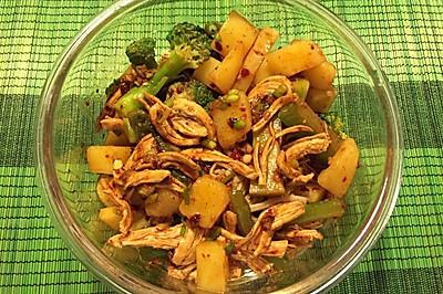 减脂鸡胸土豆美味拌菜