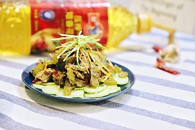 电饭锅版凉瓜炒牛肉#多力金牌大厨带回家#