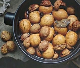 简易补肾气核桃壳煮鸡蛋的做法