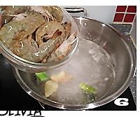 白灼大蝦的做法圖解6
