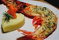 迷迭香蒜蓉芝士烤大虾的做法