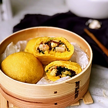 #精品菜谱挑战赛# 玉米面海鲜菜包
