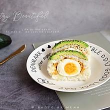 十分钟快手早餐丨牛油果肉松饭团#憋在家里吃什么#