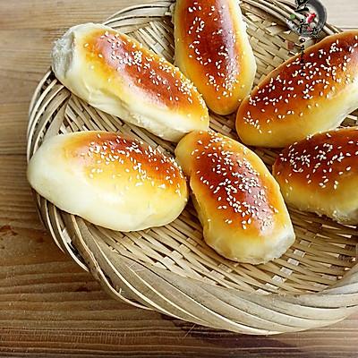 之芝麻肉松面包