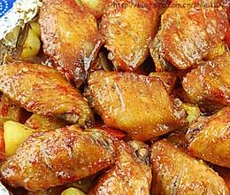 蜜汁叉烧鸡翅烤蔬菜的做法