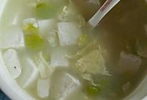 豆腐鸡蛋蚕豆汤的做法