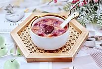 """#美食说出""""新年好""""#紫薯花生小米粥的做法"""