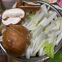 培根白菜生奶油意大利面