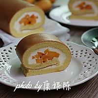 制作蛋糕卷的小窍门【芒果奶油蛋糕卷】的做法图解15
