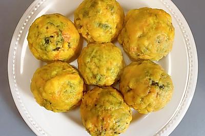减脂玉米面菜团子