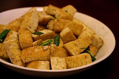 孜然青蒜煎豆腐