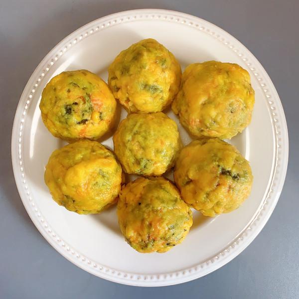减脂玉米面菜团子的做法