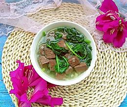 菠菜鸭血汤的做法