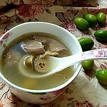 润肺利咽的瘦肉粉肠橄榄汤