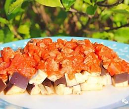 番茄肉末蒸茄子的做法