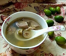 润肺利咽的瘦肉粉肠橄榄汤的做法