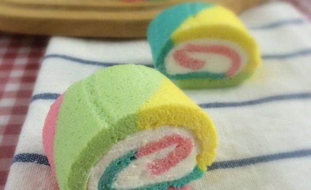 只为测试新刀—彩虹蛋糕卷