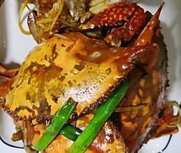 葱姜炒梭蟹的做法