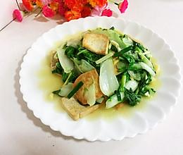 奶白菜煎豆腐的做法