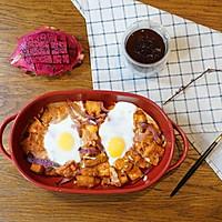 精致早餐:培根番茄烤蛋配黑咖啡的做法图解6