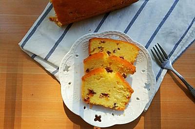 南瓜红枣粒磅蛋糕
