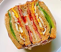 全麦吐司三明治的做法