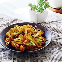 五花肉干煸有机花菜-在家做出饭店的味道#一机多能 一席饪选#的做法图解17