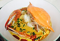 梭子蟹蒸蛋的做法