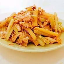 #我们约饭吧#鸡丝芹菜炒土豆