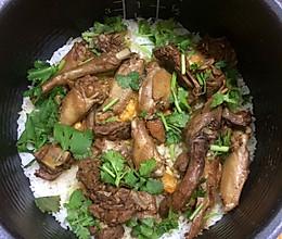 乳鸽焗饭的做法
